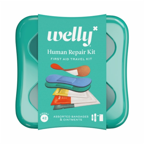 Welly™ Human Repair First Aid Travel Kit Perspective: front