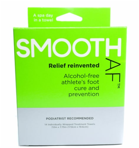 Smooth AF Athlete's Foot Treatment Towels Perspective: front