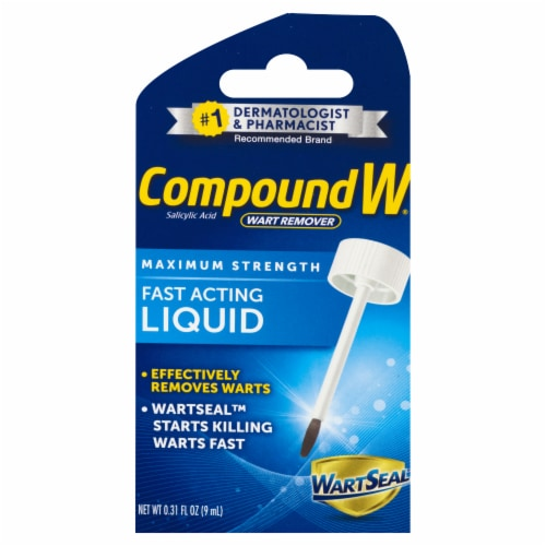 Compound W Fast-Acting Liquid Wart Remover Perspective: front