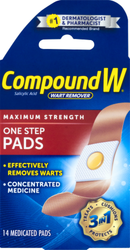 Compound W Maximum Strength One-Step Wart Pads Perspective: front