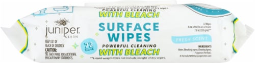 KW Textile Inc. Juniper Disinfecting Wipes with Bleach Perspective: front
