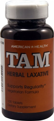 American Health Tam Herbal Laxative Tablets Perspective: front