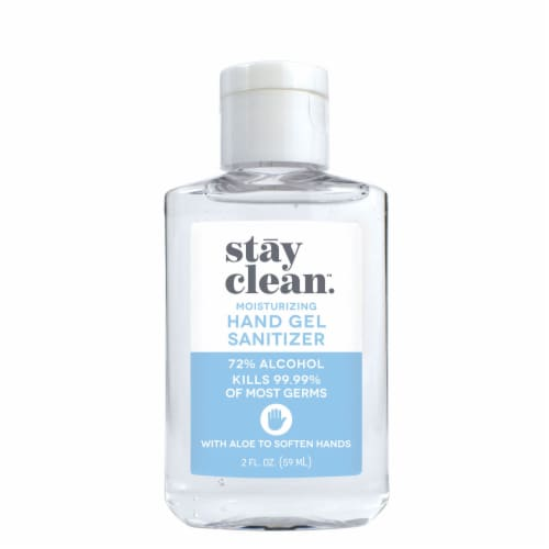 stay clean. Moisturizing Hand Gel Sanitizer Perspective: front
