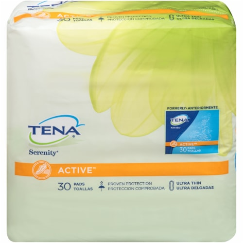 TENA Serenity Active Ultra Thin Pads Perspective: front