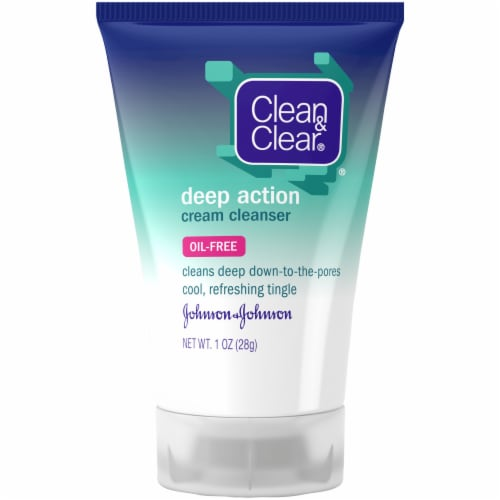 Clean & Clear Deep Action Cream Cleanser Perspective: front