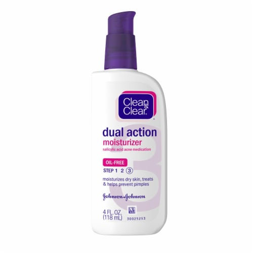 Clean & Clear Dual Action Moisturizer Acne Medication Perspective: front