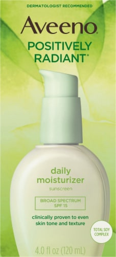 Aveeno Positively Radiant Daily Moisturizer SPF 15 Perspective: front