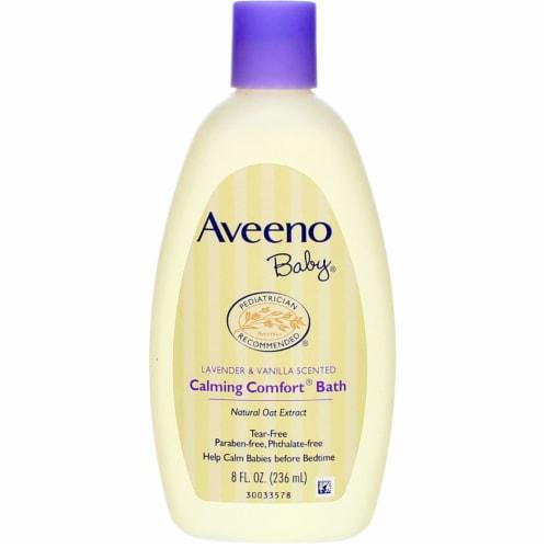 Aveeno Baby Lavender & Vanilla Scented Calming Comfort Bath Wash Perspective: front