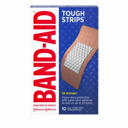 Band-Aid Tough Strips Extra Large Bandages Perspective: front