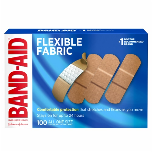 Band-Aid Quiltvent Flexible Fabric Bandages Perspective: front