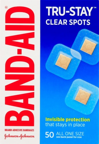 Band-Aid Clear Spots Bandages Perspective: front