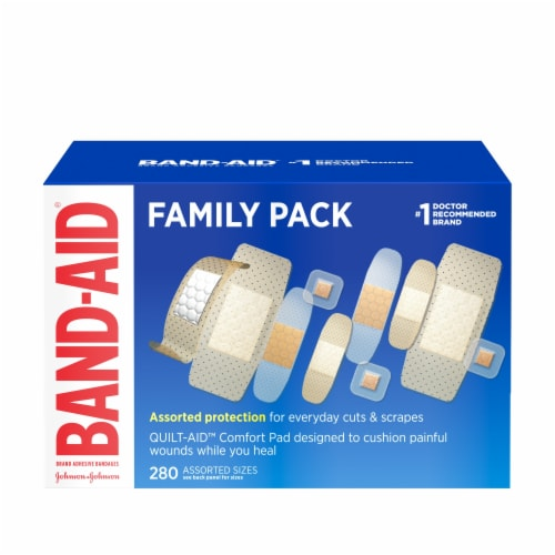 Band-Aid Family Variety Pack Bandages Perspective: front