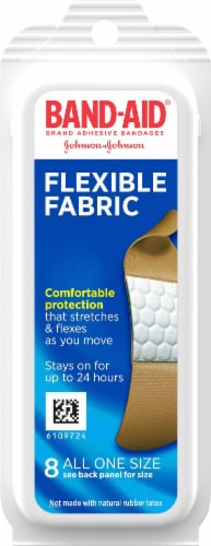 Band-Aid Flexible Fabric Bandages 8 Count Perspective: front