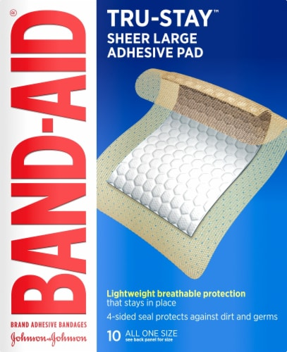 Band-Aid Tru Stay Large Adhesive Pads Perspective: front