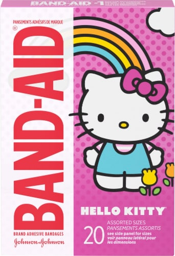 Band-Aid Hello Kitty Adhesive Bandages 20 Count Perspective: front