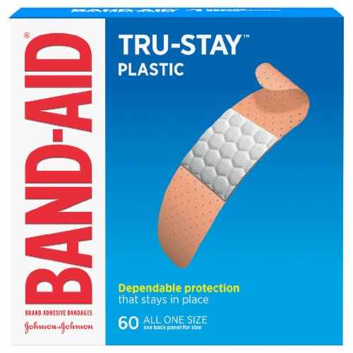 Band-Aid Plastic Strips Bandages Perspective: front