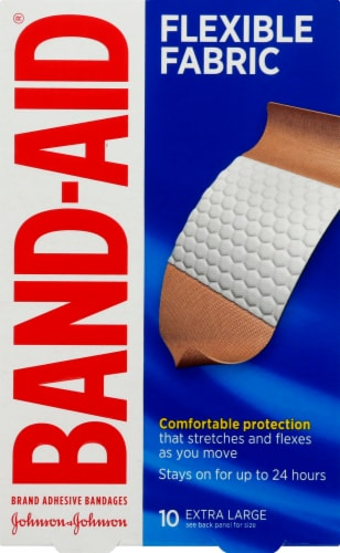 Band-Aid Flexible Fabric Extra Large Bandages Perspective: front