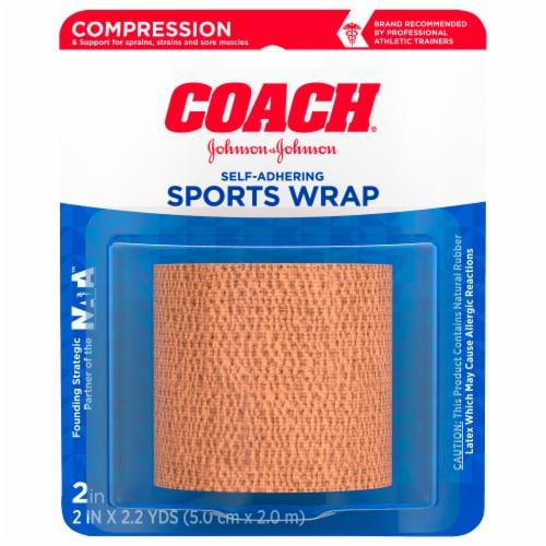 Band-Aid Johnson & Johnson Coach Self-Adhering Elastic Bandage Perspective: front
