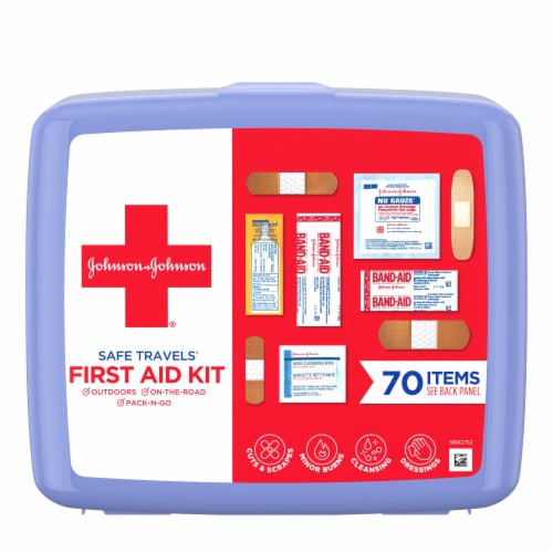 J&J Red Cross Safe Travel First Aid Kit Perspective: front