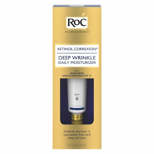 RoC Retinol Correxion Deep Wrinkle SPF-30 Daily Moisturizer Perspective: front