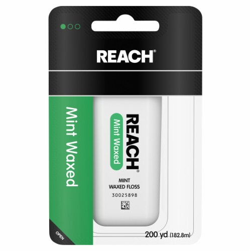 Reach Mint Waxed Floss Perspective: front