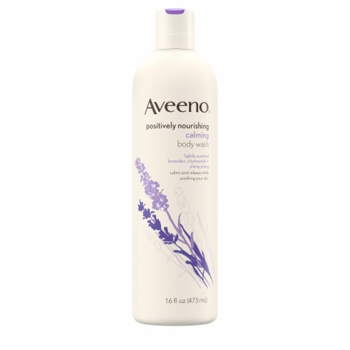 Aveeno Positively Nourishing Calming Body Wash Perspective: front