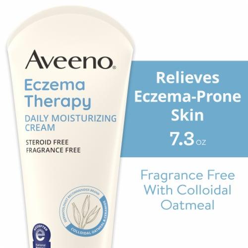 Aveeno Eczema Therapy Moisturizing Cream Perspective: front