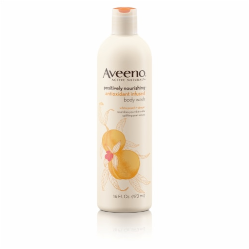 Aveeno Positively Nourishing Antioxidant Peach & Ginger Body Wash Perspective: front