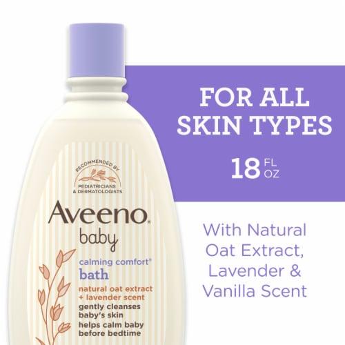 Aveeno Baby Calming Lavender & Vanilla Comfort Baby Body Wash Perspective: front