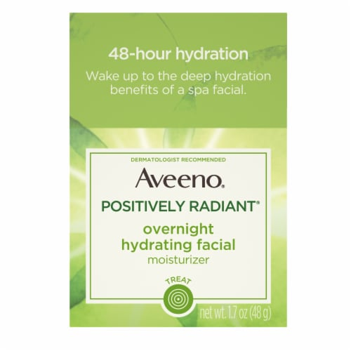 Aveeno Positively Radiant Overnight Hydrating Facial Moisturizer Perspective: front