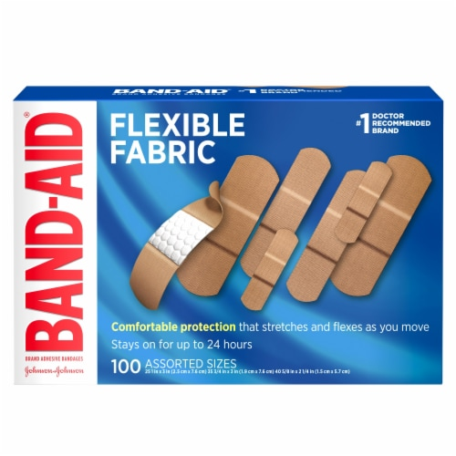 Band-Aid Assorted Flexible Fabric Perspective: front