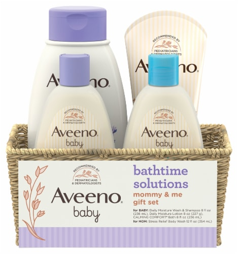 Aveeno Baby Bathtime Solutions Gift Set Perspective: front
