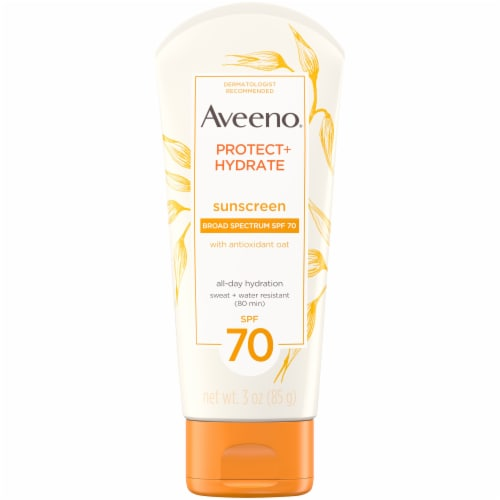 Aveeno Protect + Hydrate Sunscreen Lotion SPF 70 Perspective: front