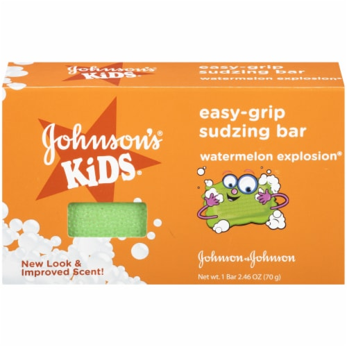 Johnson's Kids Easy-Grip Sudzing Bar Perspective: front