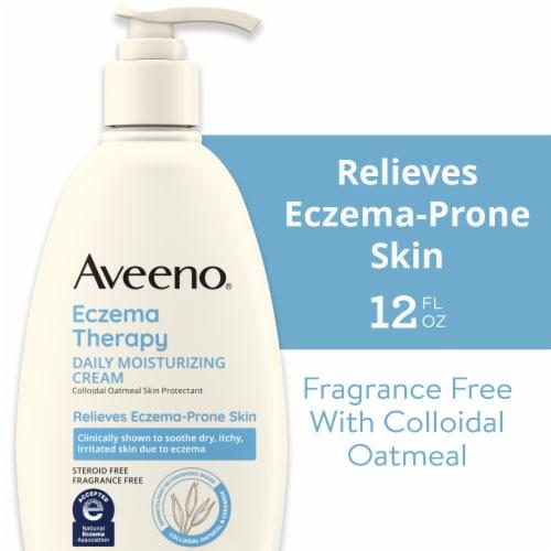Aveeno Eczema Therapy Oatmeal Moisturizing Cream Perspective: front