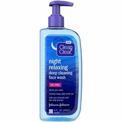 Clean & Clear Night Relaxing Deep Cleansing Face Wash Perspective: front