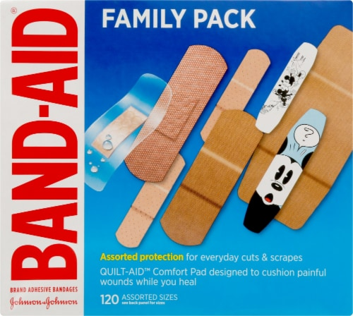 Band-aid Assorted Bandages Value Pack Perspective: front