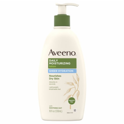Aveeno Sheer Hydration Daily Moisturizing Lotion Perspective: front