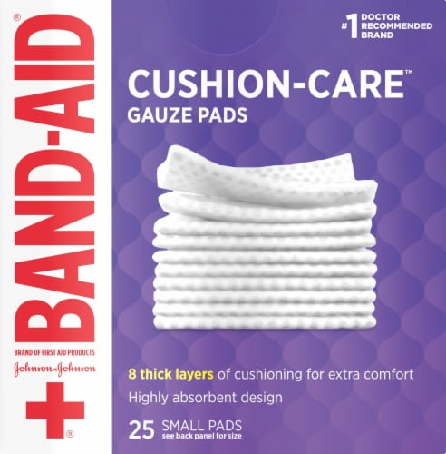 Band-Aid Small Gauze Pads Perspective: front