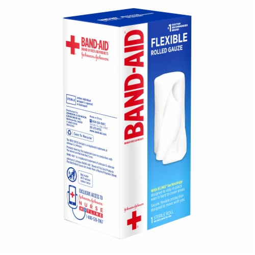 Band-Aid Gauze Roll Perspective: front