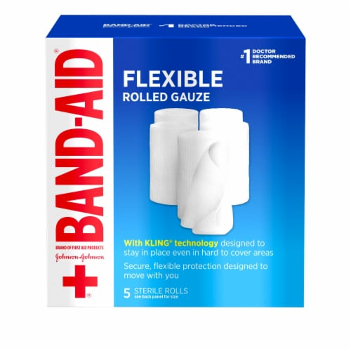 Band-Aid Flexible Medium Rolled Gauze Perspective: front