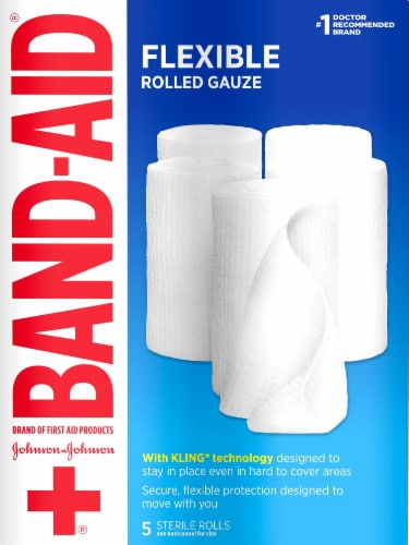 Band-Aid Large Rolled Gauze Value Pack (5 Pack) Perspective: front