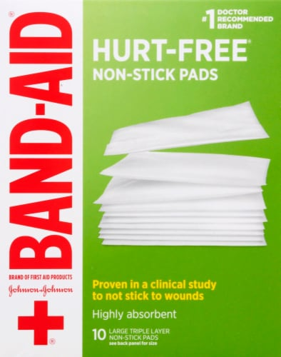 Band-Aid Large Non-Stick Pads Perspective: front