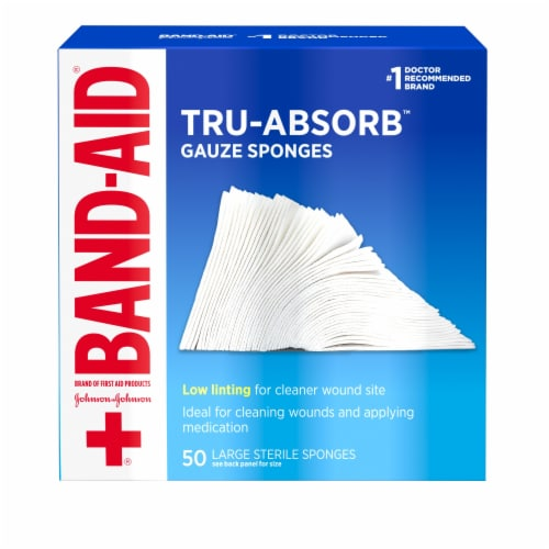 Band-Aid Tru-Absorb Large Gauze Sponges Perspective: front