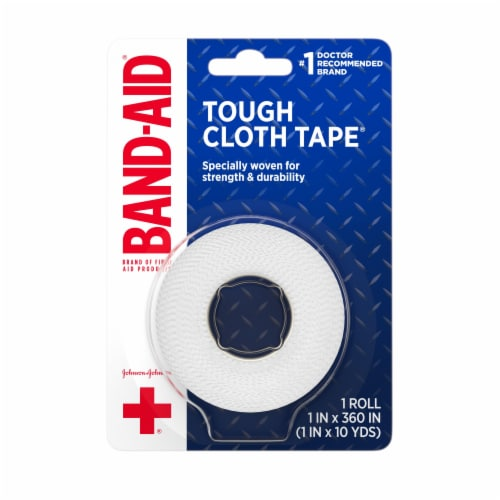 Band-Aid Tough Cloth Tape Perspective: front