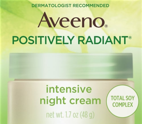 Aveeno Active Naturals Positively Radiant Intensive Night Cream Perspective: front
