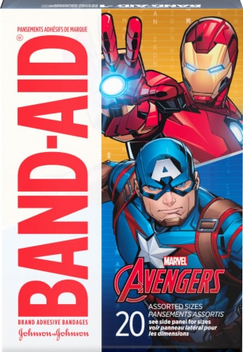 Band-Aid Avengers Assorted Bandages 20 Count Perspective: front