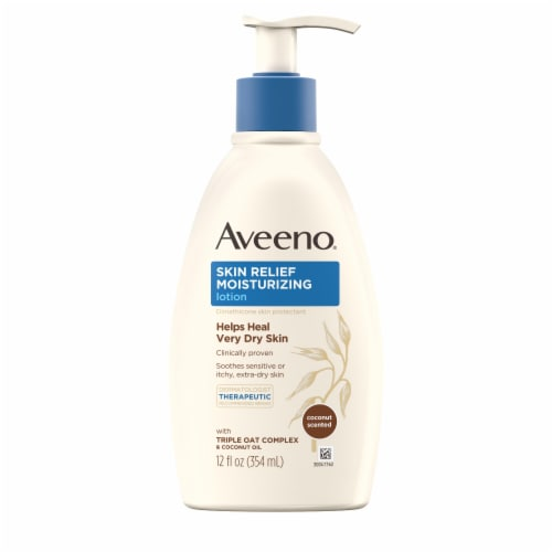 Aveeno Skin Relief Gentle Scent Nourishing Coconut For Extra Dry Skin Lotion Perspective: front