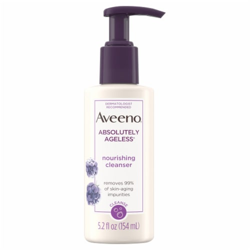Aveeno Absolutely Ageless Nourishing Facial Cleanser Perspective: front