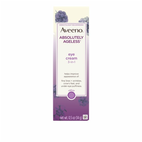 Aveeno Absolutely Ageless 3-in-1 Blackberry Eye Cream Perspective: front